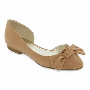 A.N.A Dorothy Pointed Toe Bow Flats